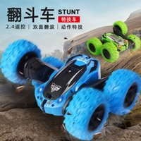 Wholesale car batteries direct for sale - Group buy Cross border manufacturers direct g remote control tumbling stunt car Dump car with lights charging children boy SUV toy C25