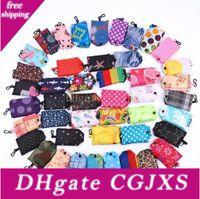 Wholesale tote modern for sale - Group buy Reusable Shopping Bag Foldable Bag Flower Printing Folding Recycle Handbags Home Organization Gift Tote Bag