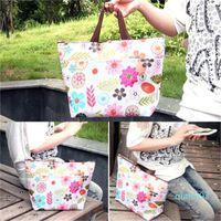 Wholesale sale big designer handbags resale online - Portable Ice Bag Insulated Coolers Oxford Lunch Bag Thermal Insulation Bags Flower Big Capacity Pattern Handbag Hot Sale kqH1