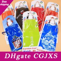 Wholesale water papers for sale - Group buy 480 Ml Foldable Water Bottle English Paper Card Installed Folding Bottle Portable Outdoor Sports Travel Bag