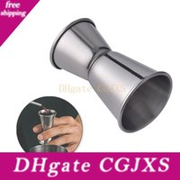 Wholesale cup dispenser for sale - Group buy Bar Cocktail Measure Cup Stainless Steel Double Shot Cocktail Wine Thicken Drink Cups Dispenser Stainless Steel Party Measure Cup Bh1141 Tqq