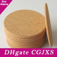 Wholesale ideas for wedding gifts resale online - 500pcs Classic Round Plain Cork Coasters Drink Wine Mats Cork Mats Drink Wine Mat Ideas For Wedding And Party Gift Lx6525