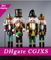 Wholesale soldiers toys for sale - Group buy 31cm Nutcracker Puppet Soldiers Wooden Home Decorations For Christmas Wooden Toy Gift Christmas Creative Ornaments Feative And Parrty Gift