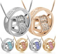Wholesale pendant neckless for sale - Group buy Heart Pendant Necklace Best Seller Silver And K Gold Jewlery Nickel Free Rhinestone Fashion Neckless For Women LXL1459