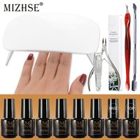 Wholesale nail kit for designs for sale - Group buy MIZHSE Nail Kit With W Lamp And Gel Polishes All For Manicure And Nail Design Torno Manicura Y Pedicura ML Primer Gel