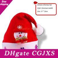 Wholesale Christmas Decorations Hifts Christmas Decorat Adult Children Style Decorations Woven Velvet High Grade Hat
