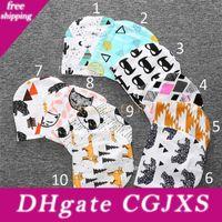 Wholesale kids panda hats resale online - Free Dhl Style Kids Christmas Ins Purified Cotton Hats Baby Boys Girls Fashion Cartoon Ins Fox Panda Tiger Stripe Caps B001