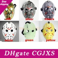 Wholesale jason voorhees cosplay resale online - Jason Masks Terrorist Masks For Adults Mask Scary Halloween Cosplay Festival Party Mask Jason Voorhees Skull Mask th Horror Ysy104