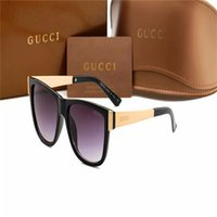 gucci hommes lunettes de soleil achat en gros de-women sunglasses G̴UCCI 2020 Brand design Sunglasses women men Brand designer Good Quality Fashion metal Oversized sunglasses vintage f