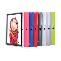 Wholesale case 2gb resale online - Cheap inch Tablet PC Android with keyboard case PC ALLwinner A33 Quade Core Dual Camera MB RAM GB ROM Capacitive Q88 Tablets