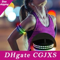 Wholesale night walk led light for sale - Group buy Led Light Up Band Flash Bracelets Night Safety Wrist Band Glow Armband For Cycling Walking Running Camping Outdoor Sport