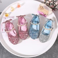 Wholesale sparkle shoes for wedding for sale - Group buy Girls Shoes Children Sparkling Shoes High Heels Kids Princess Butterfly Pearls Beading Band For Wedding Party Gift