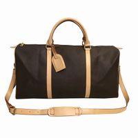 Top Quality New Men Duffle Bag Women Travel Bags Hand Luggage Travel Bags Men Pu Leather Handbags Large CrossBody Bags Totes 55cm