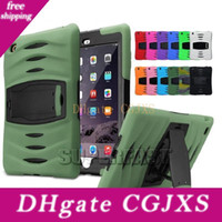 Wholesale tablet case package for sale - Group buy Tablet Defender Case For Ipad Mini Armor Hybrid Bumper Kickstand Case Rugged Protective Case For Galaxy Tab With Opp Package