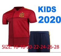Wholesale spain soccer kits for sale - Group buy 2020 Spain home Away Soccer Jersey ASENSIO MORATA ISCO INIESTA PACO ALCACER THIAGO Football Adult man and kids kit shirts