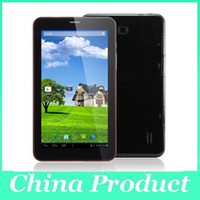Wholesale android 4.2 phablet resale online - 7inch Phablet Pc Android Dual Core g Tablet Pc Mtk8312 ghz Phone Call Wifi Capacitive Screen Free