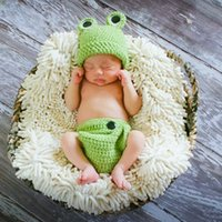 Wholesale baby clothes frogs for sale - Group buy Photo Studio Prop costume newborn photography props clothing cartoon animal clothing Frog Baby Photo suit