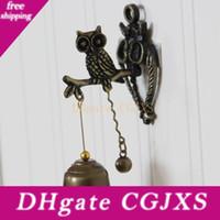 Wholesale wind animals for sale - Group buy Retro Nostalgic Animal Doorbells Metal Bells Wind Bells Wall Decorations Horse Elephant Owls