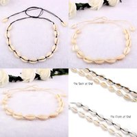 Wholesale girls soccer gifts for sale - Group buy Charm Shell Girl Sale Women Collar Sea Jewelry Beach For Gifts Xmas Necklace Chain Chocker Necklace Hot Shell Adjustable Choker Pende bbyyv