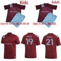 Wholesale football prices for sale - Group buy 2020 Colorado soccer jerseys red Shinyashiki Abubakar MLS Mens football shirts Price Namli Benezet Uniforms