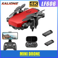 Wholesale LF606 Wifi FPV Foldable RC Drone with K HD Camera Follow Altitude Hold D Flips Headless RC Helicopter Mini Aircraft Kid s Toys Storage bag