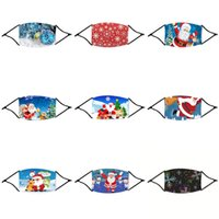 Wholesale leather eye masks for sale - Group buy Free Ship New Designer Christmas Mask Fast Shipping New Designer Face Eye Shield Washable Layers Cotton FaceChristmas Mask With Slot