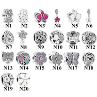 Wholesale heart bow glasses for sale - Group buy Amala Sterling Silver Daisy Butterfly Hearts Bow Clover Charm Bead with Cz Fits European Pandora Jewelry Bracelets Necklaces Pendants