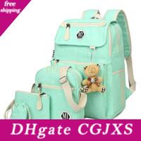 Wholesale backpacks for girls college for sale - Group buy Women Canvas Set School Backpacks College Schoolbag Fashion Plecak For Teenager Girl And Boys Rucksack Shoulder Bag