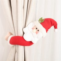 Wholesale Santa Claus Elk Windows Christmas Curtain Decor Merry Christmas Decor for Home Christmas Gifts Happy New Year DHL