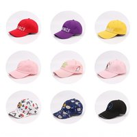 Wholesale cap market resale online - Night market fashion letter embroidered women s casual all match sun hat straight baseball Embroidered baseball cap peaked cap