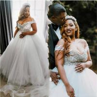 Wholesale pregant dresses for sale - Group buy Off the Shoulder Plus Size African Wedding Dresses Empire Pregant Bridal Gowns Cheap robes de mariée