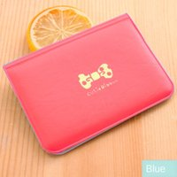 Wholesale cute gift card holders for sale - Group buy Cute bow bag place pvc ladies solid color set fashion simple Korean Butterfly card style card holder gift