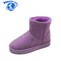 stiefel groihandel-Huanqiu Snow Boots Female 2020 beiläufige klassische Students Light Board-Stiftung Lila Warm Thick Cotton Boots wyq253