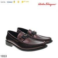 Wholesale wide dress shoes men resale online - First layer cowhide casual wide heel shoes business shoes MEN SNEAKERS Dress Shoes Skate Dance Ballerina Flats Loafers Espadrilles