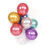 Wholesale balloon decorating resale online - 10 Inch Metal Chrome Balloon Thickened Latex Wedding Birthday Party Decorated Festival Balloon Color Available