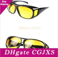 Wholesale anti glare lens for sale - Group buy Hd Night Vision Driving Sunglasses Men Yellow Lens Over Wrap Around Glasses Dark Driving Protective Goggles Anti Glare