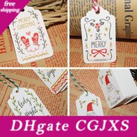 Wholesale merry christmas wishes resale online - Merry Christmas Diy Paper Tags Creative Collection Card Mini String Wish Cards Fit Gifts Wrap Decoration Party Favor Tta1743