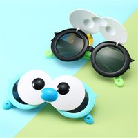 augen cartoons groihandel-Mode Kinder Cartoons polarisierte Sonnenbrille Big Eyes Flip Sonnenbrillen Brillen Anti-UV-Brille Runde Objektiv Brillen Adumbral A ++