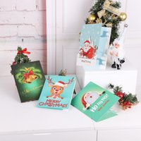 Wholesale stitching cards resale online - DIY Animal Holiday Inviting Card Diamond Painting Cross Stitch Card Halloween Christmas Birthday Diamond Painting Invitation pc