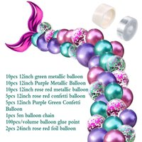 Wholesale balloons arches resale online - 42Pcs Balloon Arch Set Mermaid Tail Balloon Little Mermaid Party Decorations Supplies Wedding Girl Birthday Party Decor dhl