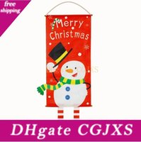 Wholesale garden ornaments decoration resale online - Christmas Hanging Flags Christmas Hanging Ornaments Window Hanging Flag Outdoor Hang Polyester Garden Patio Lawn Flags Decorations Lxl375