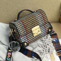 Wholesale cross bag for party resale online - Designer Pom Poms Stripes bags women Flap bags designer Strap Cross body bags for women Mayun wanggong