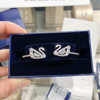 Wholesale swarovski crystals swan resale online - The swan female bracelet swan is decorated with shiny and charming Swarovski imitation crystal white gold plating clever interpretation of S