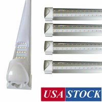 Wholesale 12 usa for sale - Group buy V Shaped ft ft ft ft ft ft Cooler Door Led Tubes T8 Integrated Led Tubes Double Sides Led Lights fixture Stock In USA