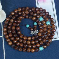 Wholesale 8mm rosary beads resale online - Natural bracelet black rosewood Buddha beads bracelet mm round beads Buddha Burmese men s and women s rosary jewelry VtmnM