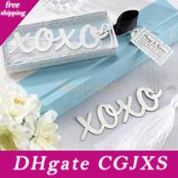 Wholesale wedding reception gifts resale online - Wedding Favor Xo Metal Bookmark With Tassel Bridal Shower Favors Present Wedding Reception Gift Wen4505
