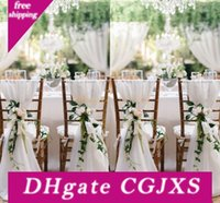 Wholesale chiavari chairs resale online - 2018 White Chair Sashes For Weddings d Chiffon Cm Wedding Chair Covers Chiavari Chair Sashes Diy Style