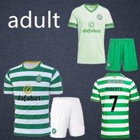 Wholesale new football jersey set resale online - new Celtic Soccer Jerseys SINCLAIR FORREST Football Shirt set BROWN ROGIC CHRISTIE MCGREGOR GRIFFITHS Men