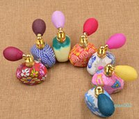 Wholesale pump balloons resale online - New Brainbow ml Balloon Perfume Bottles Empty Refillable Bottle Atomizer Spray Polymer Clay Spray Scent Pump Case Travel Portable