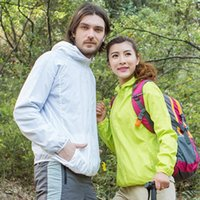 Wholesale outdoor sports hunting clothing resale online - Men Women Hiking Jacket Waterproof Quick Dry Camping Hunting Clothes Sun Protective Outdoor Sports Coats Anti UV Windbreaker